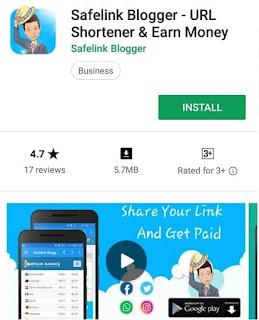 Aplikasi Safelinkblogger