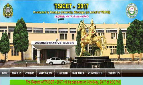 TS ICET 2017 Results & Rank Cards