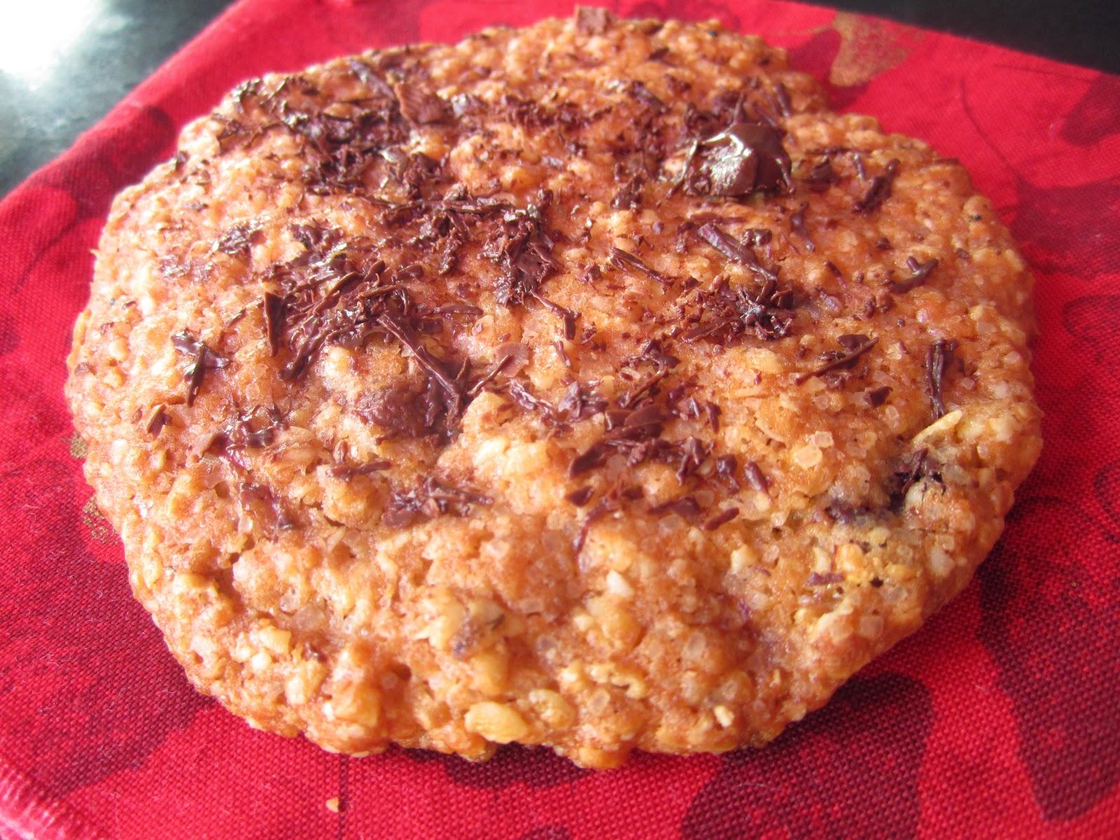 Cookies flocons d'avoine et morceaux de chocolat