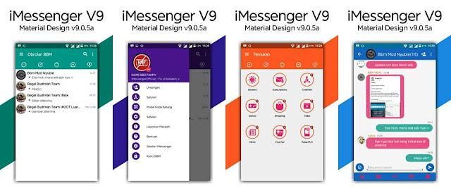 BBM Mod iMessenger V9 Material Design Base 3.2.0.6 Apk