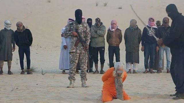 بالفيديو جريمة  جديدة مروعة لداعش في سيناء تذبح  شيخ كبيرعمره 98 عاما ..ماذا فعل لهم لينال هذا العقاب !!