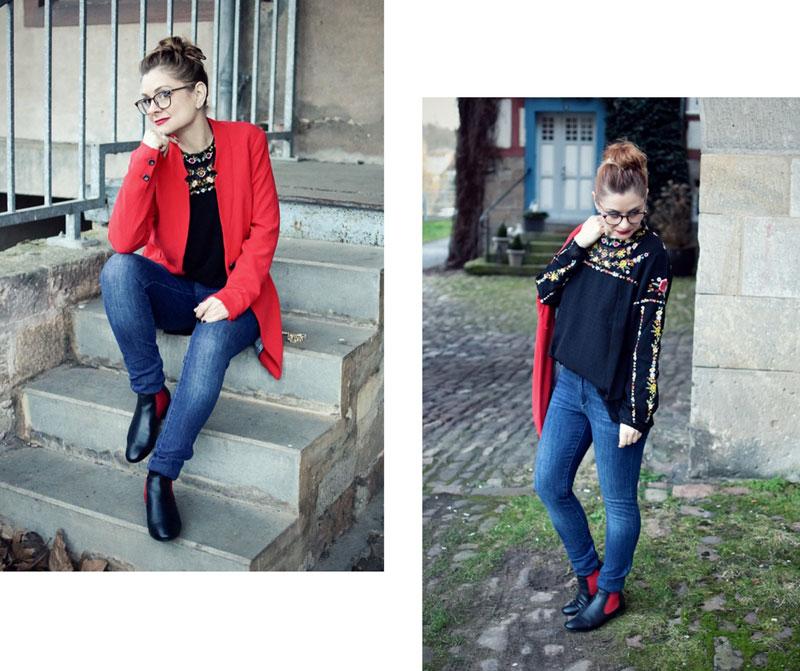 Bluse in schwarz, transparente Bluse, Modeblog für Frauen über 40