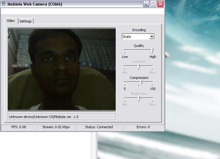 Mobile webcam driver congratulate