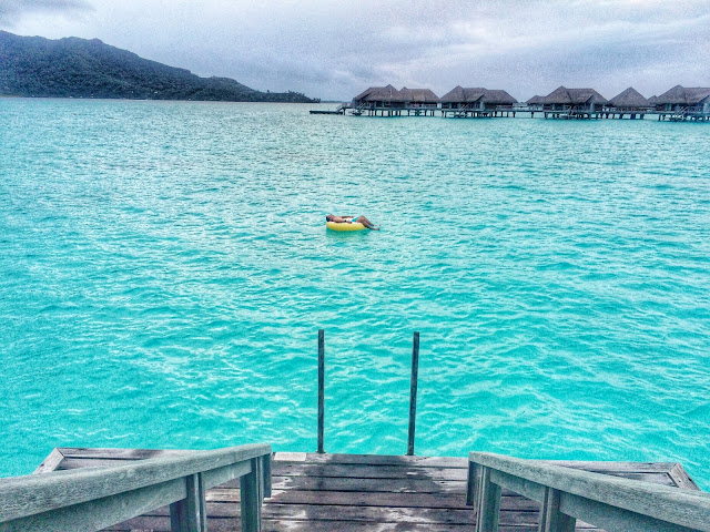 Bora Bora Lagoon Floating in Donut