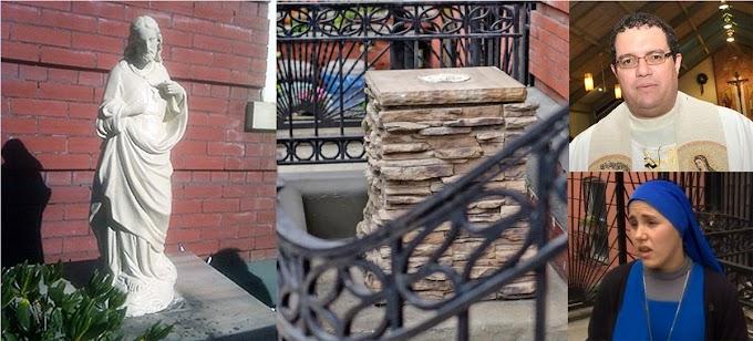 Se roban por segunda vez estatua del Sagrado Corazón de Jesús en iglesia católica de Brooklyn