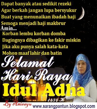 PANTUN CINTA: Pantun Selamat Hari Raya Idul Adha 1434 H