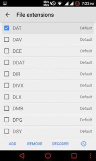 Open dat in mx player-select dat