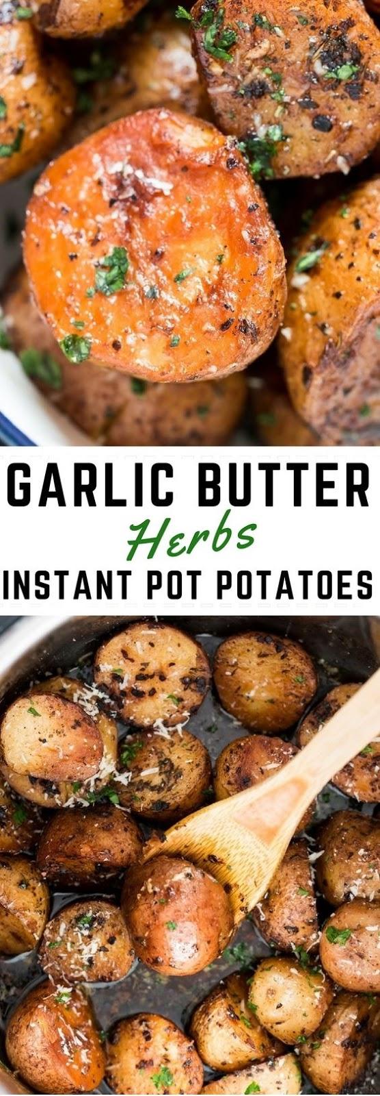 Garlic Butter Herbs Instant Pot Potatoes