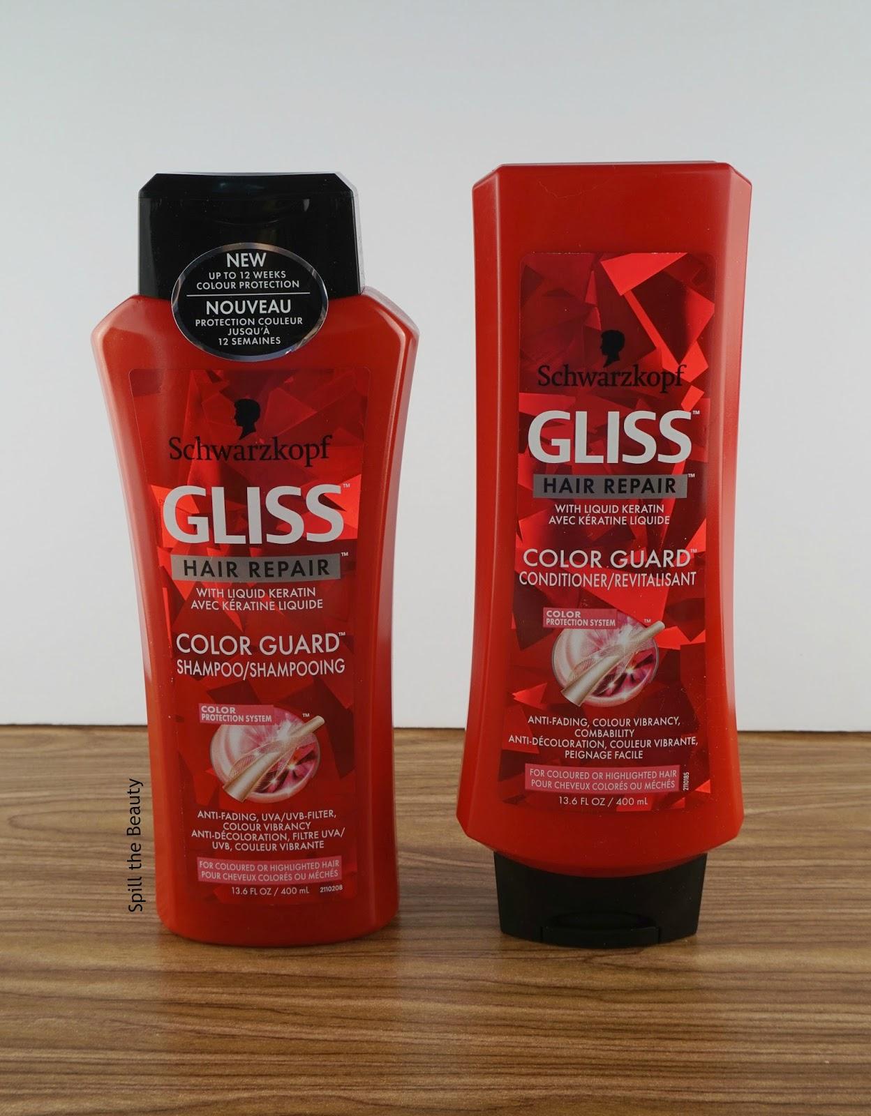 gliss color guard shampoo conditioner express repair review