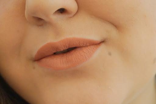 MUA Luxe Velvet lip lacquer lip swatches Halcyon