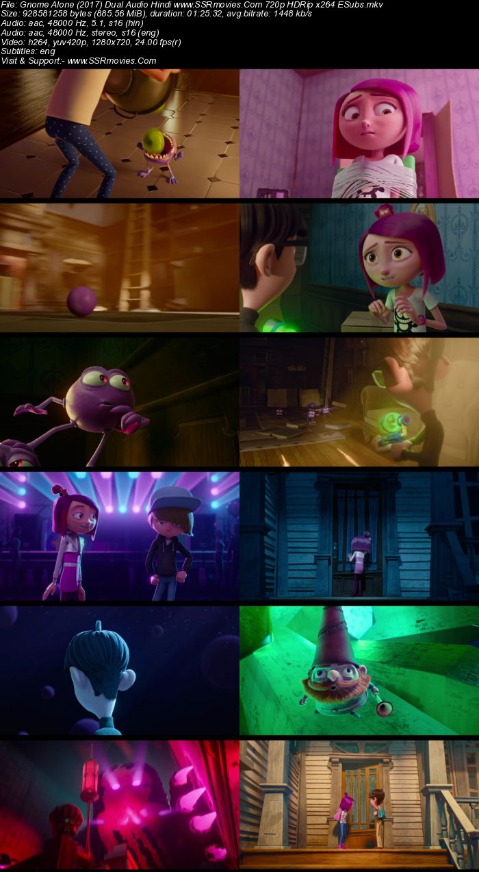 Gnome Alone (2017) Dual Audio Hindi 720p WEB-DL x264 850MB ESubs Movie Download