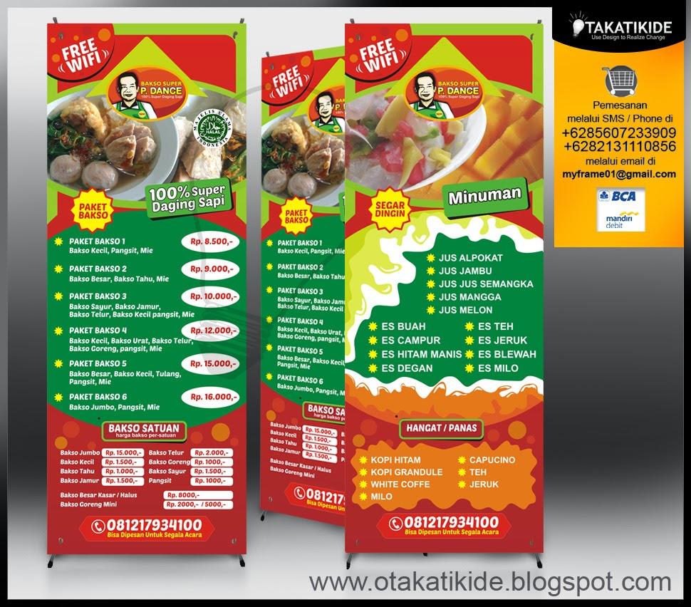 Harga Jasa Desain Menu Restoran: Jasa Desain X-bannerjasa Desain Kemasan Produk Ukm, Logo