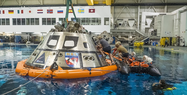 NASA tests crew exit strategy for Orion spacecraft in October 2015. Photo Credit: NASA / Radislav Sinyak