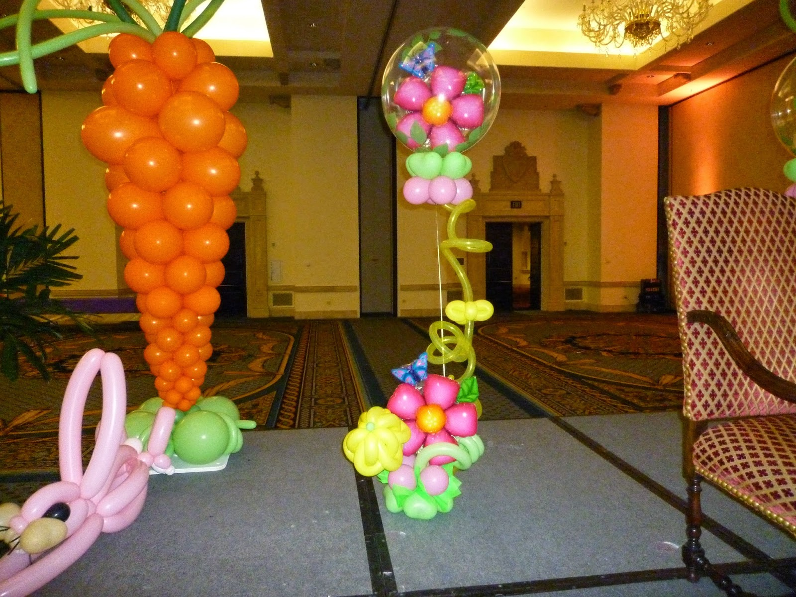 Easter Bunny photo shoot event decoration, Easter event decoration ideas.