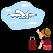 飛行機を乗り過ごした人のイラスト