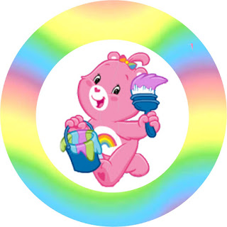 Care Bears Party, Toppers or Free Printable Candy Bar Labels.