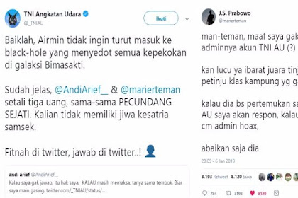 Tuding Mantan Kasum TNI 'PECUNDANG SEJATI', Admin Akun TNI AU BANJIR Kecaman