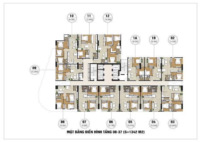 thiết kế căn hộ flc satr tower