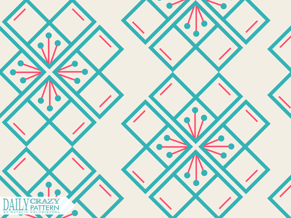 "Vintage geometric pattern for ""Daily Crazy Pattern"" project"