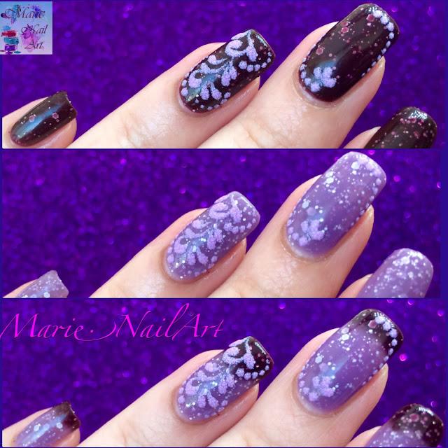 nail art thermique et sable de velours6