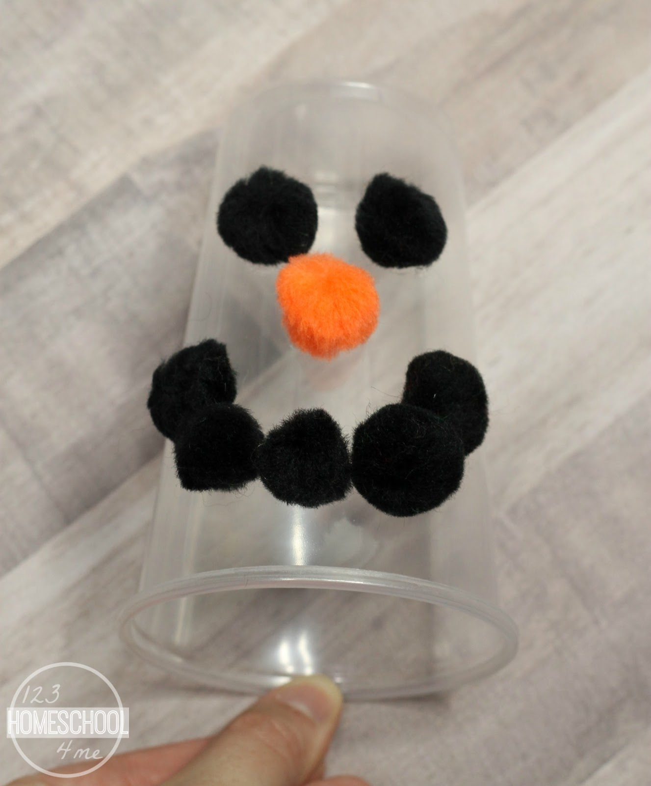 how to make a snowman nose out of foam
