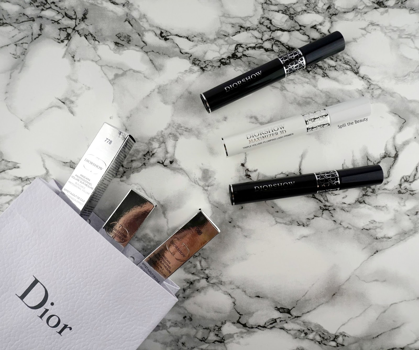 Dior Diorshow  'Maximizer 3D Triple Volume Plumping Lash Primer',  #778 'Pro Mahogany' and #082 'Pro Anthracite' Mascara – Review and Comparison