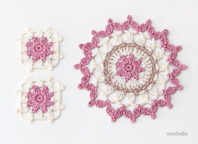 Summer coasters Crochet Motif 6_2017 by Anabelia Craft Design
