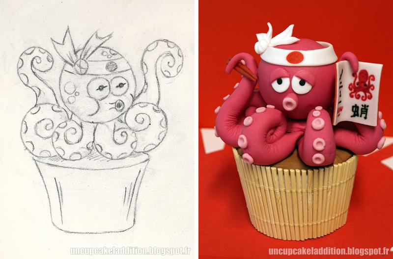Expo Tarta 2013 :  Cupcakes Japonais - Le Poulpe