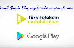 Trk Telekom Mobil deme ile Google Play Uygulamas Alma