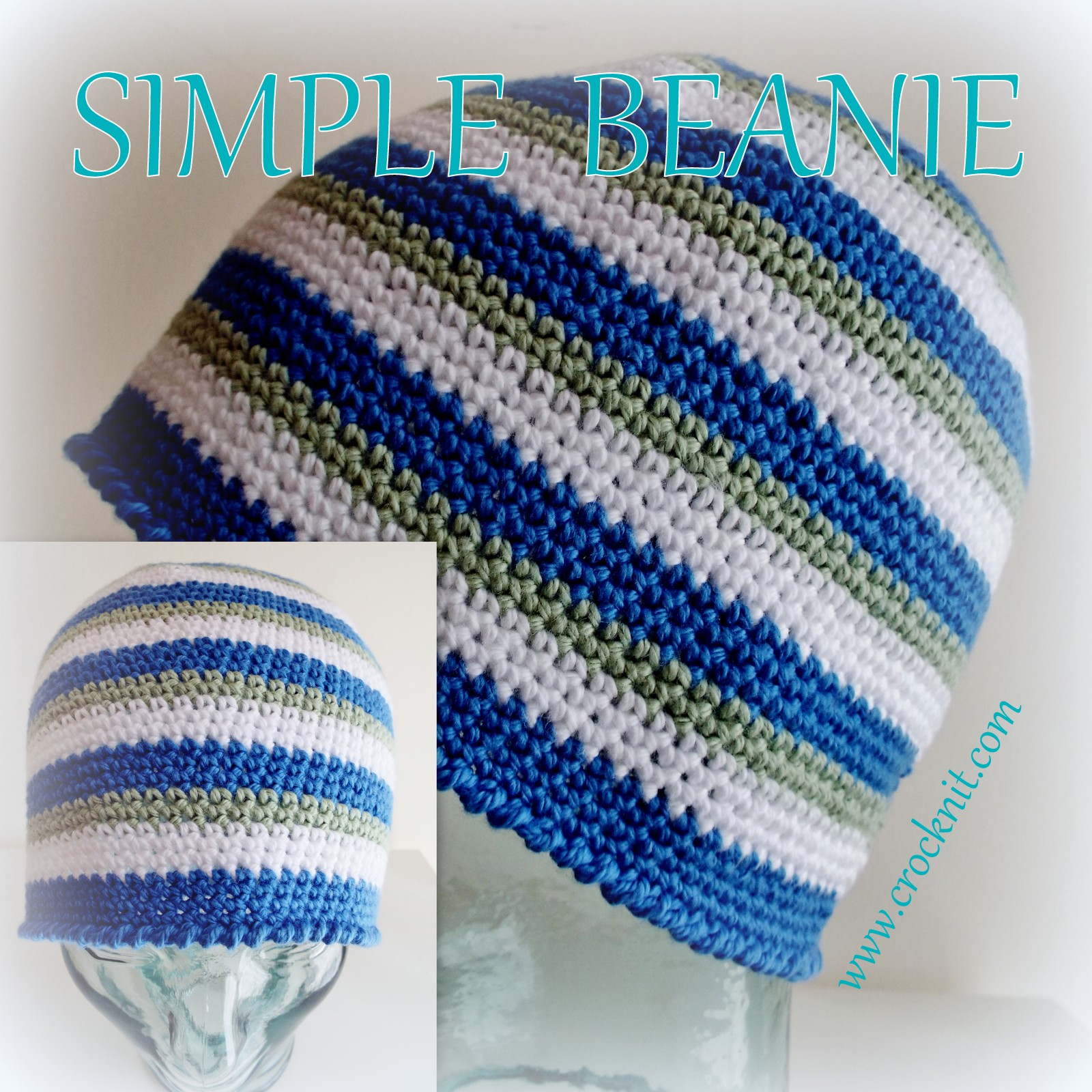 MICROCKNIT CREATIONS: How to Crochet a Simple Beanie
