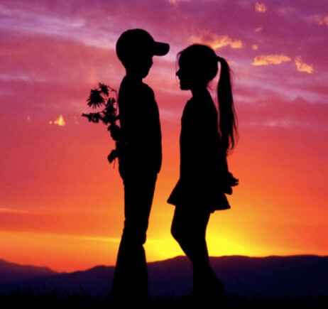 Boys and girl romantic sunset propose pic for love Whatsapp Profile Picture, DP, Images Download Free