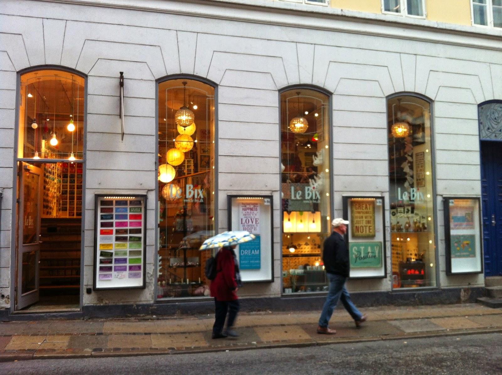 The oust die of Le Bix design store in Copenhagen