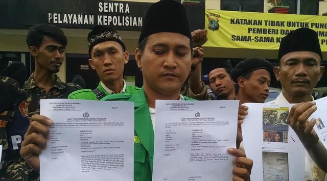 Lecehkan Ketum PBNU dan Tokoh NU di Medsos, Dua Akun FB Ini Dipolisikan GP Ansor Kota Bekasi