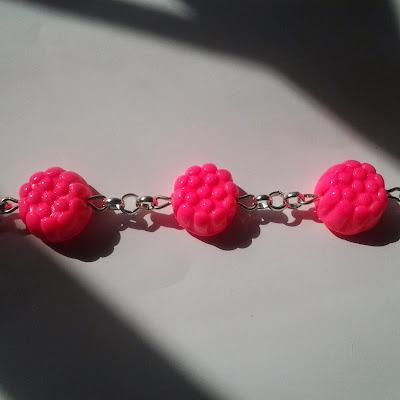 Braccialetto morositas rosa neon in Fimo