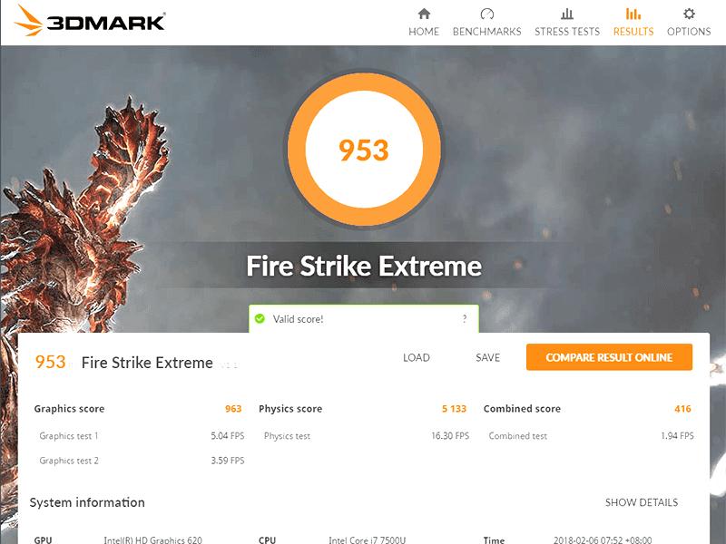 Firestrike scores