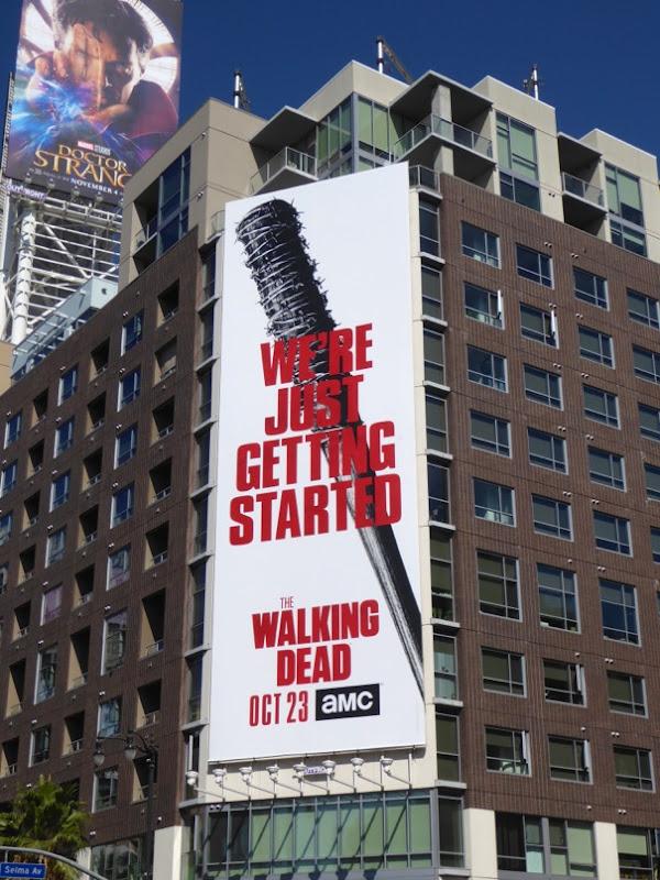 Walking Dead 7 Lucille baseball bat billboard