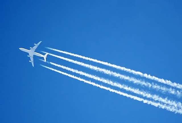 What are contrails?