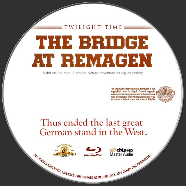 The Bridge At Remagen Bluray Label