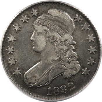 United States Coins Capped Bust Half Dollar 1832 World
