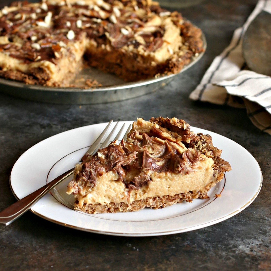 Hungry Couple: Peanut Butter Pie with Chocolate Covered Pretzel Crust