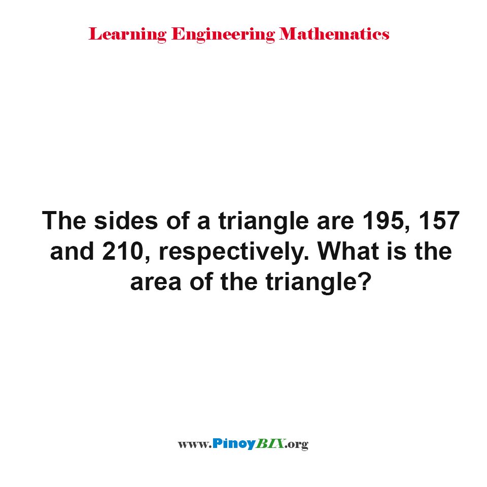 What is the area of the triangle?