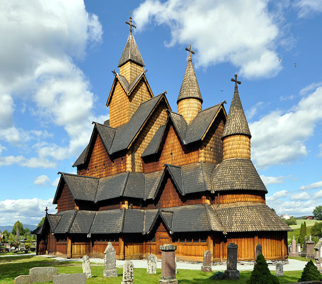 The extraordinary Heddal Stave Church is Norway's largest and a striking example of how the Norwegians perfected their technique in construction—a long way from Palisade Churches.