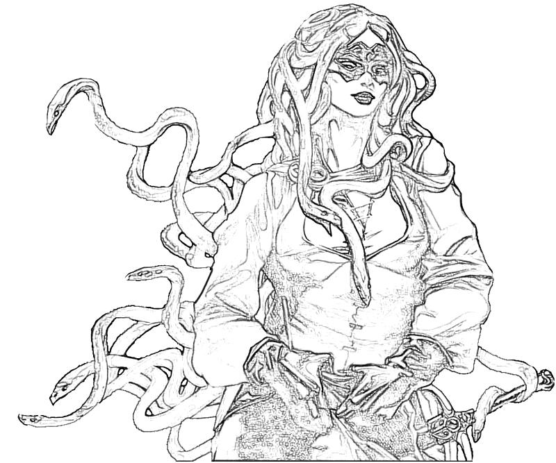 Medusa art lowland seed for Medusa coloring pages