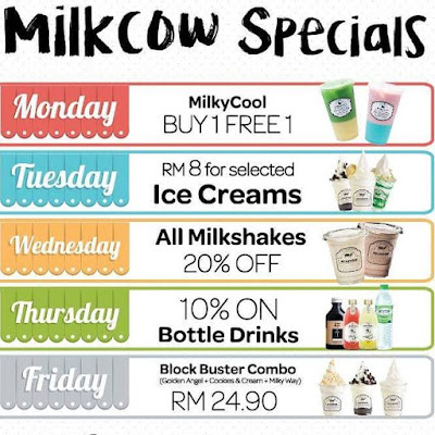 Milkcow Malaysia Weekday Specials Discount Promo