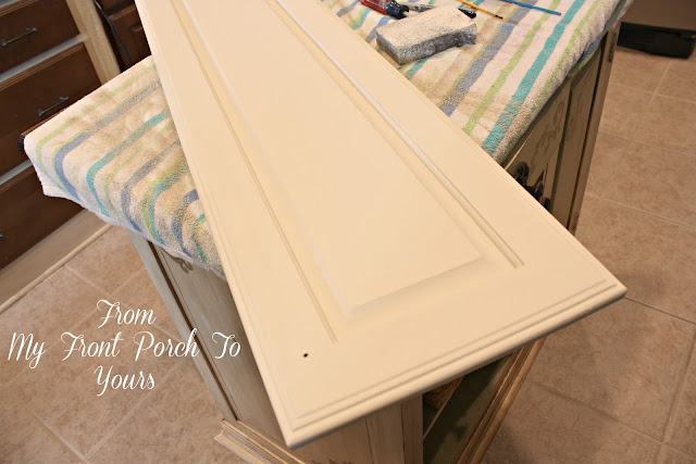 Annie Sloan Chalk Painted Kitchen Cabinets in Old Ochre