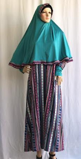 Gamis Kerudung Jersey GKM4733