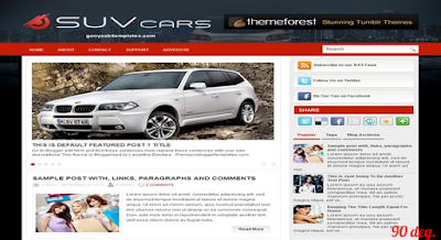 SUV Cars Blogger Template