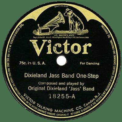 Παλιός δίσκος τζαζ /Dixieland Jazz Band victor record