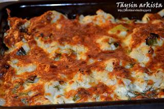 Cauliflower-fennel gratin