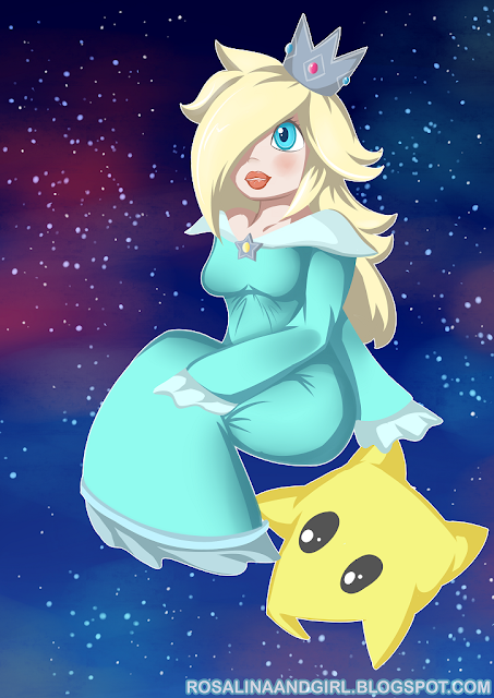 princess Rosalina nintendo super mario bros. cute Luma
